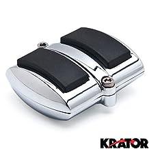 Chrome Brake Pedal / Heel Shift Pad Cover Rubber For Honda Shadow 750 Aero 2004-2009 Brake Pedal
