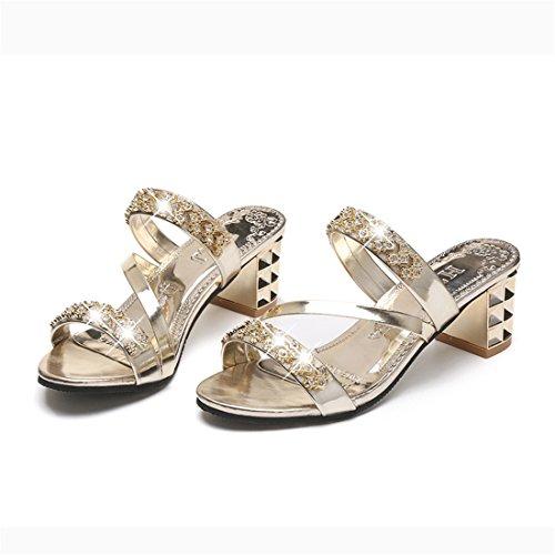 Pantofole Casual Da Donna In Pelle Da Spiaggia Estiva In Pelle 1089 Argento