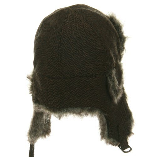 Herringbone Trooper Hat - Brown M-L