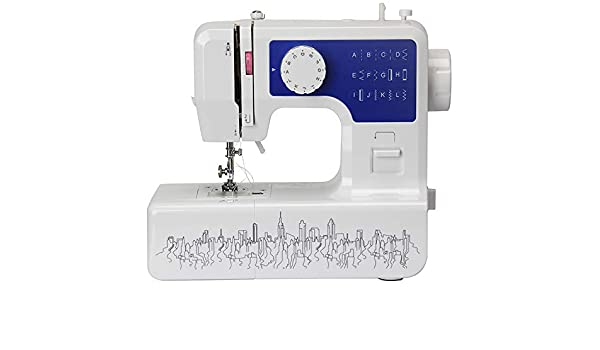 Máquina de coser portátil con lámpara de 12 puntadas Máquina de coser multiusos para trabajo pesado de 2 velocidades para principiantes y niños: Amazon.es: Hogar