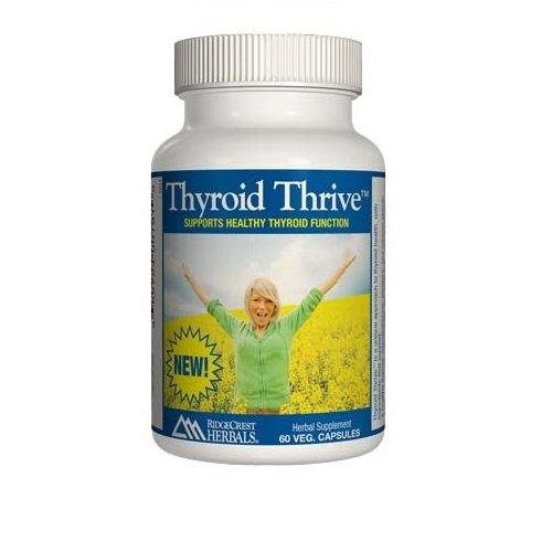 RidgeCrest Herbals thyroïde Thrive Vegetarian Capsules à base de plantes, 60 comte