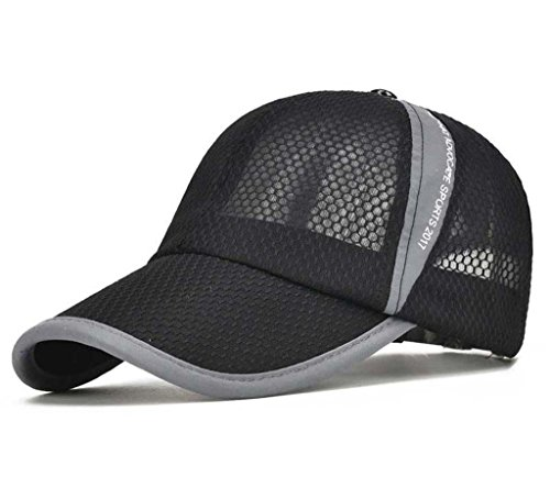 - CRYSULLY Summer Cap Flexfit Sports Caps Mesh Hat for Golf Cycling Running Fishing Outdoor Sun Hat Visor Black ...