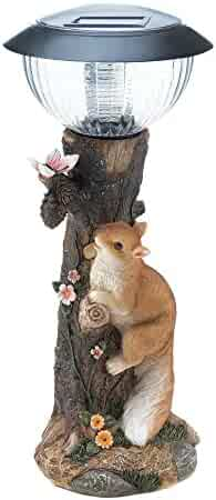 c2c7accd69 Summerfield Terrace Solar Path Light with Squirrel and Tree Trunk