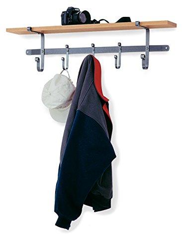Price comparison product image Enclume Shelf Coat Rack with Hardwood Shelf,  Hammered Steel