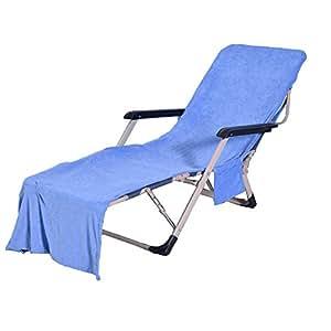 Amazon.com: wisehome microfibra toalla de playa Lounge silla ...