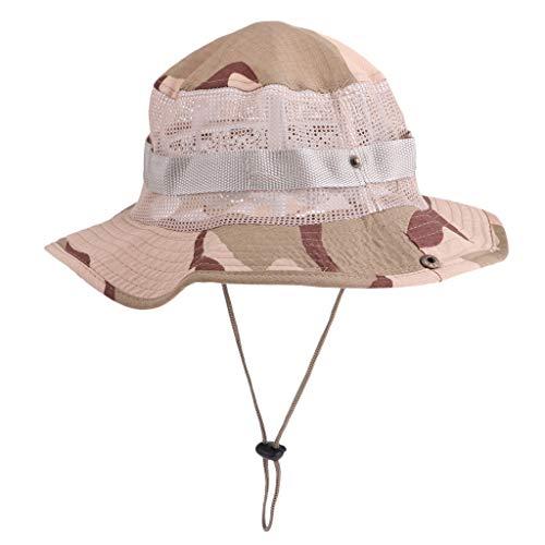 D DOLITY Sun Hat Men Women, Outdoor Wide Brim Bucket Hat Breathable  Foldable Cap Fishing 95e8a3f16f
