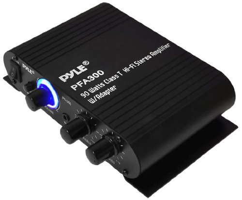 Pyle PFA300 90-Watt Class T Hi-Fi Stereo Amplifier with Adapter