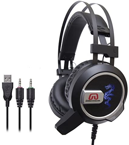 [해외]GamesterGear Falcon Over The Ear Stereo Pc Gaming Headset 3.5mm Surround Sound AudioOmnidirectional Microphone - Led Lights - Volume Control / GamesterGear Falcon Over The Ear Stereo Pc Gaming Headset 3.5mm Surround Sound AudioOmni...