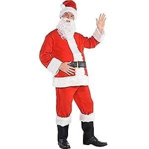 Amazon.com: Diseño de Papá Noel Traje adulto disfraz – Talla ...