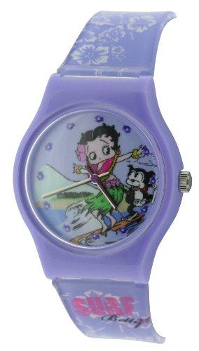 - Betty Boop Analogue Surf Purple & White Plastic Strap Girls Watch BTY14B