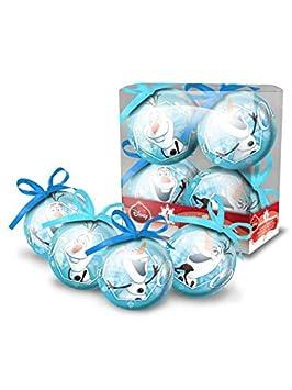 COOLMP - Lote de 12 Bolas de Navidad Olaf Frozen 7,5 cm ...