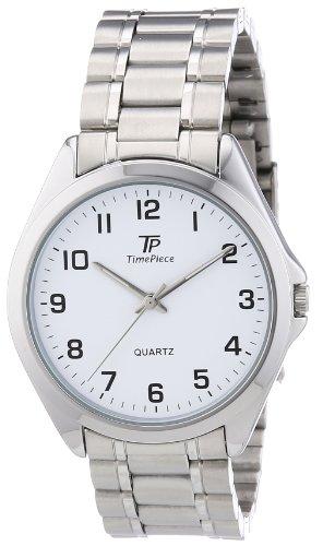 Time Piece Herren-Armbanduhr XL Sporty Analog Quarz Edelstahl TPGA-30167-12M