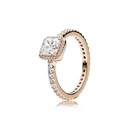 Pandora Timeless Elegance Ring, Pandora Rose, Clear CZ, 6 US, 180947CZ 52