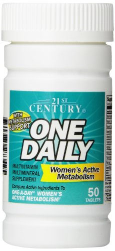 21st Century One Daily Tablets - 21st Century One Daily Women's Active Metabolism Tablets, 50 Count