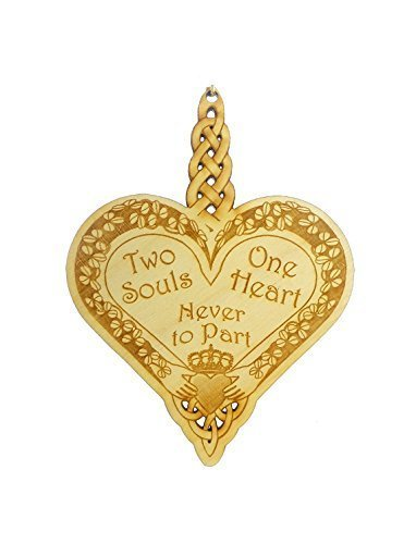 "Celtic Heart Ornament - ""Two Souls, One Heart, Never to Part"