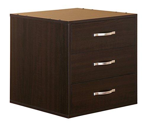 3-Drawer Organizer Cube, Espresso -