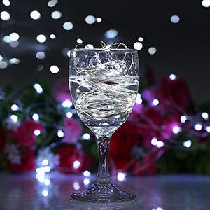 Warm White Aluan Wine Bottle Lights with Cork 10 Pack 12LED Bottle Lights Battery Inclued Wine Cork Lights String Lights for Party Wedding Christmas Halloween Bar Jar Lamp Decor