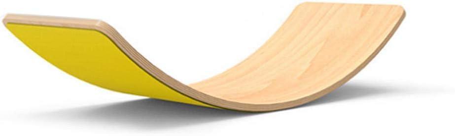 Balance Board en Bois Montessori Bascule /À Bascule Courb/ée Wobble Board pour Enfants Planche d/équilibre Naturelle en Bois pour am/éliorer l/équilibre