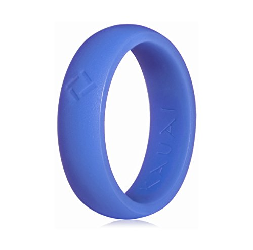 KAUAI - Silicone Wedding Rings -Leading Brand, from The Latest Artist Design Innovations to Leading-Edge Comfort: Pro-Athletic Ring Elegance Collection for Women (Periwinkle Bay, 5)