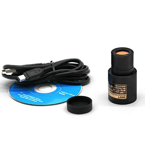 SWIFT Optical Digitale 1,3-Megapixel-Mikroskopkamera für Farbfotografie und Video, Okularhalterung, USB 2.0-Anschluss, Windows- und Mac-kompatibel