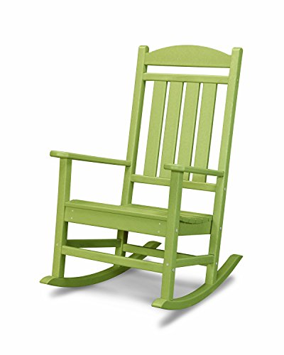 (POLYWOOD R100LI Presidential Rocking Chair, Lime)