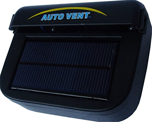 Jorbest Solar Powered Auto Air Vent Cooling Fan for Car Auto Ventilator Air Cooling(Black-L)