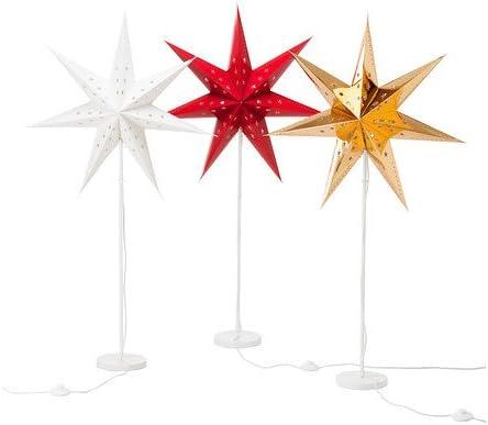 IKEA sTRALA lampadaire étoile de noël rouge: