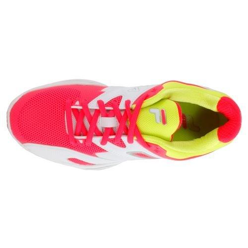 Di Sicurezza Donne Bianca Dive Sentinella Delle Fila Gialla Shoe Tennis Rosa 6pqR44
