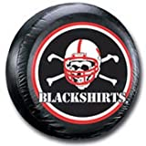 Nebraska Huskers Black Spare Tire Cover - Blackshirts