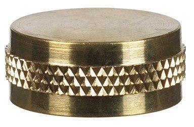 GARDEN HOSE CAP 3/4 BRS by JMF MfrPartNo 47044 (Hose Brs)
