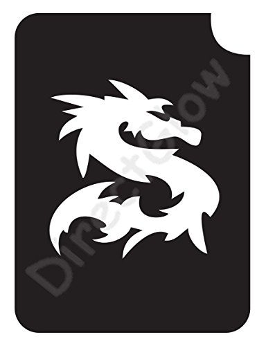 Dragon 1015 Body Art Glitter Makeup Tattoo Stencil- 5 (Dragon Tattoos Art)