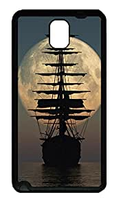 Samsung Galaxy Note 3 N9000 Cases & Covers - Pirate Ship Moon TPU Custom Soft Case Cover Protector for Samsung Galaxy Note 3 N9000 - Black