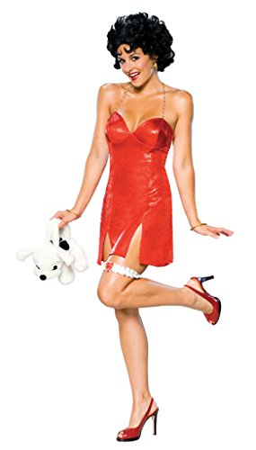 Rubies Womens Costume Betty Boop Deluxe Halloween Themed Party Fancy Short Dress, XS (2-6) -