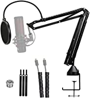 Quadcast Mic Arm with Pop Filter - Professional Adjustable Scissor Microphone Boom Arm Compatible with Hyperx