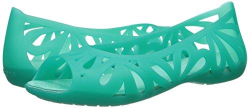 Piatto Peep Adrina Teal Tropical Iii island Toe Green Crocs wxHFInn