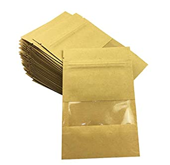 Amazon.com: Hyamass - 50 bolsas de papel Kraft reutilizables ...