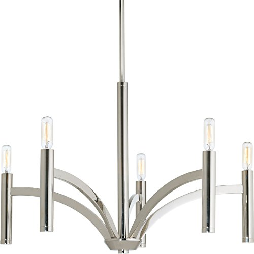 - Progress Lighting P4718-104 5-60W Cand Chandelier, 25