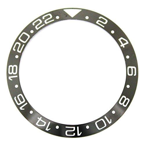 38.0MM Bezel Insert to Fit Rolex GMT - Black/White Ceramic ()
