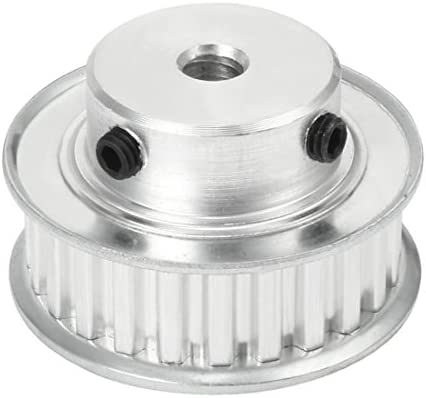 uxcell Aluminum XL 12 Teeth 8mm Bore Timing Belt Pulley Flange Synchronous Wheel for 10mm Belt