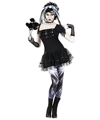 [Frankies Bride Womens Costume deluxe] (Gothic Bride Halloween Makeup)