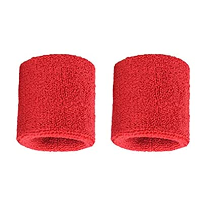 Feketeuki Pair Pure Cotton Wristbands Soft Wrist Guard Support Bands Wrist Bands Sport Sweatbands for Playing Basketball Tennis Red Estimated Price -