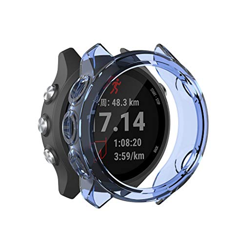 Sodoop Case Compatible for Garmin Forerunner245M/245, Clear TPU Frame Protector Watch Cover Shell [Scratch-Proof] Rugged Case for Garmin Forerunner245M/245 Smartwatch