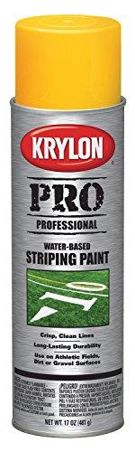 Krylon K05919000 Water-Based Striping Paint, Athletic Field Yellow, 17 ounce