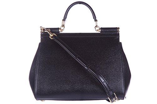 cmEU Femme et Noir Dolce amp;Gabbana Or BB6002A100180999 à Sac main Cuir Noir 10x20x25 g1q7IvWv