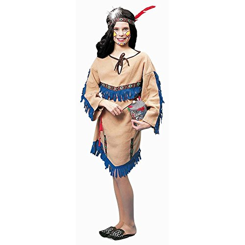 Nativ (Girls Tan Native Princess Indian Costumes)