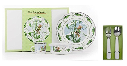 Golden Rabbit Mary Engelbreit, Dish, Cup, Bowl & Silverware Set, Jack and (Mary Engelbreit Bowls)