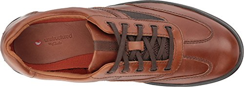 Clarks-Mens-Un-Rhombus-Fly-Sneaker-Brown-Leather-Size-105