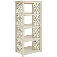 Linon Whitley Antique White Bookcase