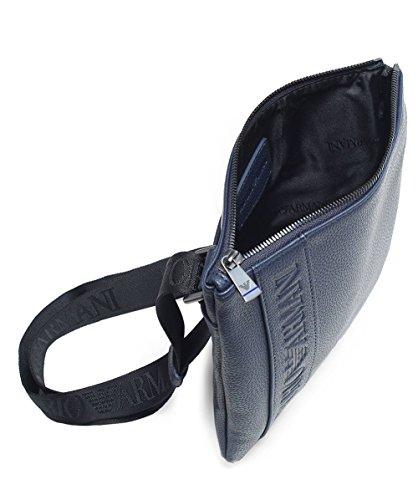 Bag Men's Armani Small Indigo Flat Messenger Indigo wCSHS0x