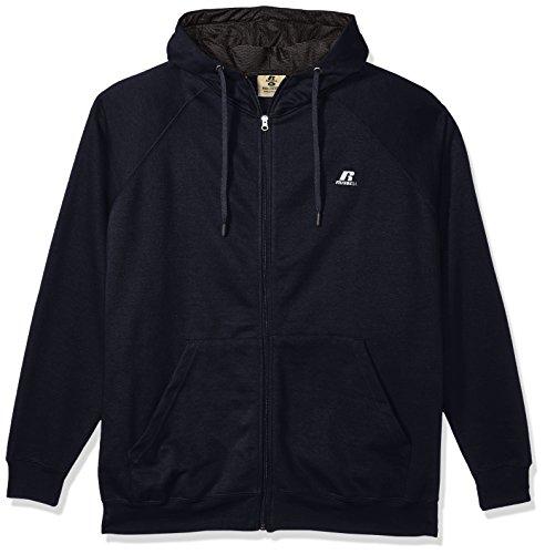 Russell Athletic Men's Big and Tall Fz/FLCE Hood W/mesh Lining Contrast Drawsrtringlc r, Navy, 4XT ()